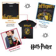 Harry Potter Hufflepuff Crest Men's T-Shirt - Popgear