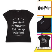 Harry Potter Solemnly Swear Women's Fitted T-Shirt Back Image by Popgear