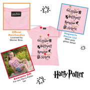 Harry Potter Brave Loyal Wise Ambitious Girls T-Shirt | Official Merchandise Back Image by Popgear