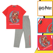 Harry Potter Gryffindor Boys Long Pyjamas Set | Official Merchandise Back Image by Popgear