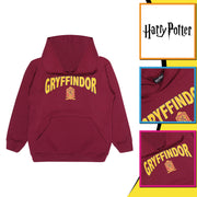 Harry Potter Gryffindor Shield Boys Pullover Hoodie | Official Merchandise Back Image by Popgear