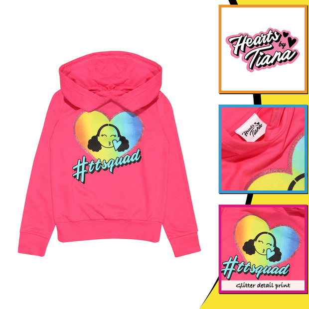 Hearts By Tiana TT Squad Girls Pullover Hoodie - Popgear