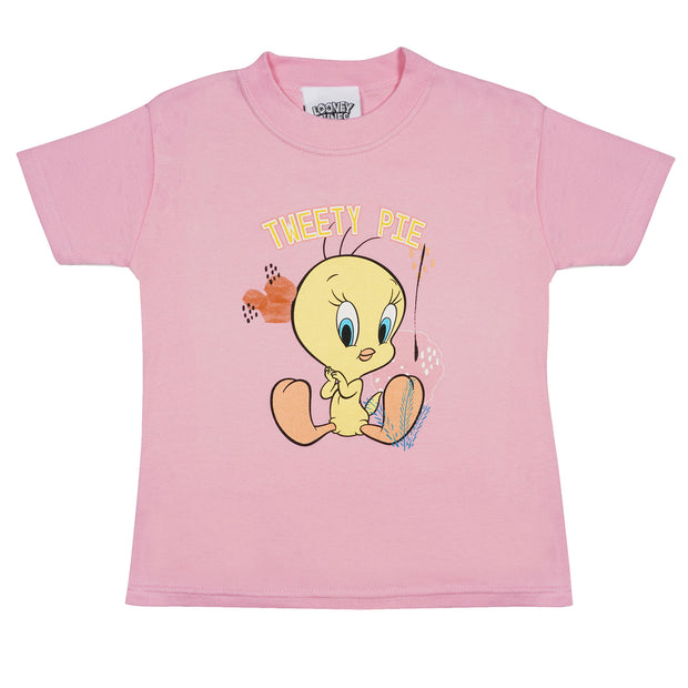 Looney Tunes Tweety Pie Girls T-Shirt | Official Merchandise Front Image by Popgear