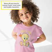 Looney Tunes Tweety Pie Girls T-Shirt | Official Merchandise Angle Image 1 by Popgear