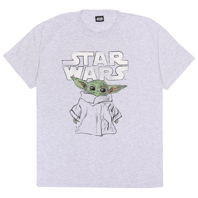 Star Wars: The Mandalorian The Child Sketch Men's T-Shirt - Popgear