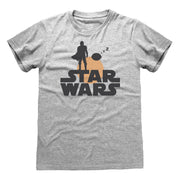 Star Wars: The Mandalorian Mando and The Child Silhouette Men's T-Shirt - Popgear