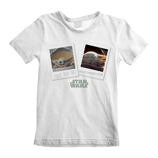 Star Wars The Mandalorian The Child First Trip Out Boys T-Shirt - Popgear