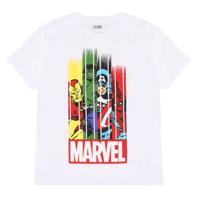 Marvel Comics Team Stripes Boys T-Shirt - Popgear