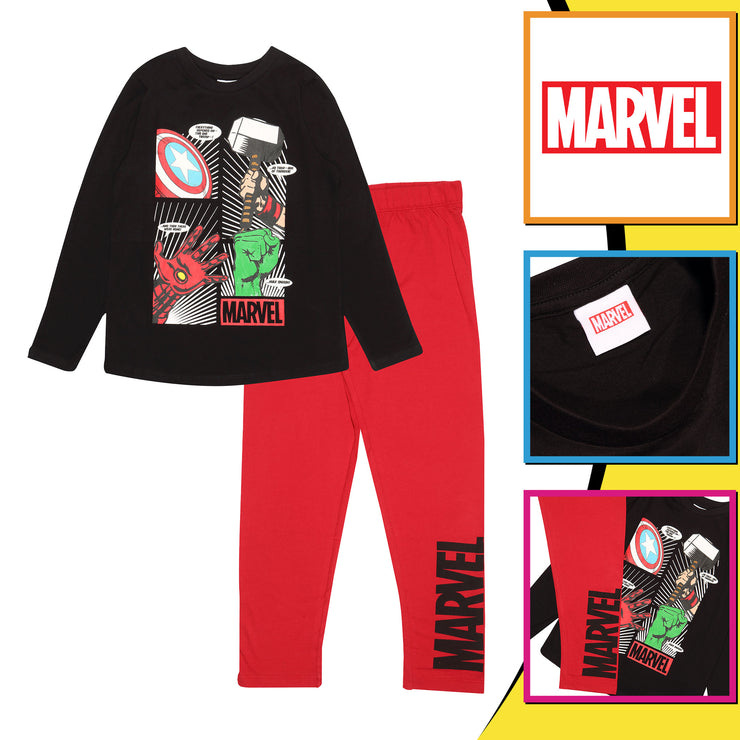 Marvel Comics Icons Boys Long Pyjamas Set - Popgear