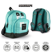 Minecraft Diamond Mini Girls Backpack | Official Merchandise Back Image by Popgear