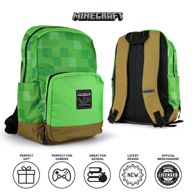 Minecraft Shelter Girls Backpack | Official Merchandise Back Image by Popgear