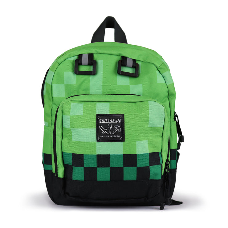 Minecraft Creeper Pattern Mini Girls Backpack | Official Merchandise Front Image by Popgear