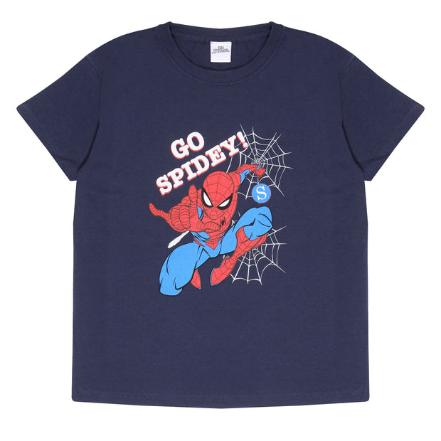 Marvel Comics Spider-Man Go Spidey Boys T-Shirt | Official Merchandise Front Image by Popgear