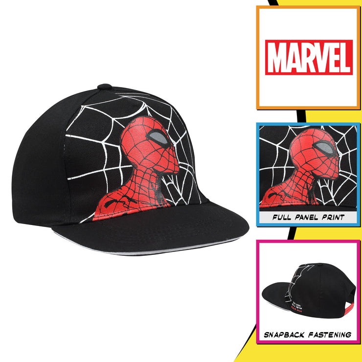 Marvel Comics Spider-Man Web Head Boys Baseball Cap - Popgear