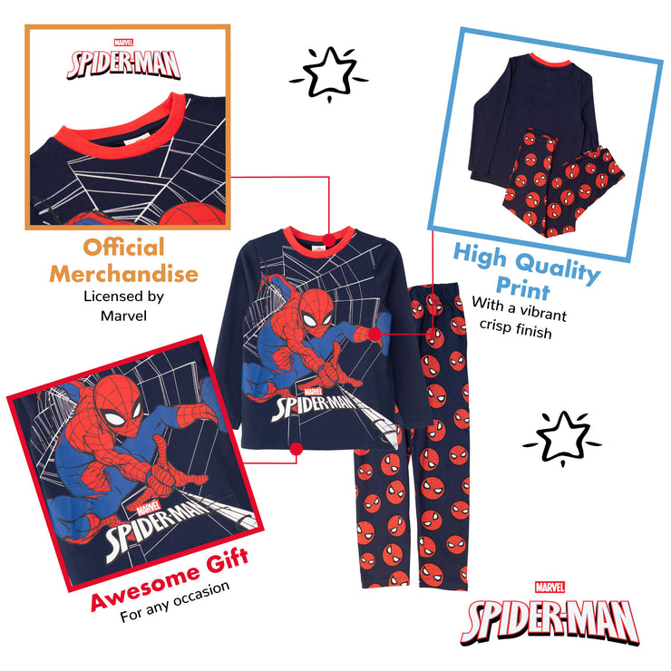 Marvel Comics Spider-Man Web Shooter Boys Long Pyjamas Set - Popgear