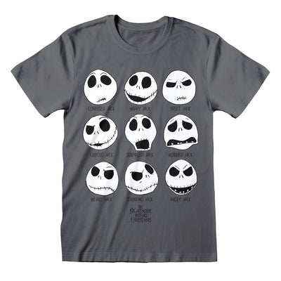 Disney The Nightmare Before Christmas The Many Faces Of Jack Men's T-Shirt - Popgear