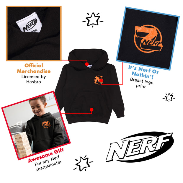 Nerf Logo Boys Pullover Hoodie | Official Merchandise Back Image by Popgear