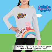 Peppa Pig Follow The Rainbow Girls Long Sleeve T-Shirt | Official Merchandise Angle Image 2 by Popgear