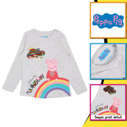 Peppa Pig Follow The Rainbow Girls Long Sleeve T-Shirt | Official Merchandise Back Image by Popgear