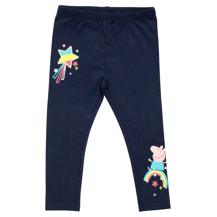 Peppa Pig Rainbows Girls Leggings | Official Merchandise Front Image by Popgear