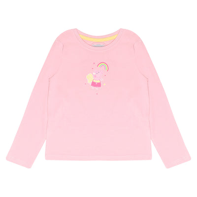 Peppa Pig Rainbow Wings Girls Long Sleeve T-Shirt | Official Merchandise Front Image by Popgear