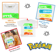 Pokemon Catch Em All Neon Boys T-Shirt | Official Merchandise Back Image by Popgear