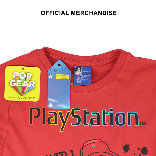 Playstation Controllers Boys Long Sleeve T-Shirt - Popgear