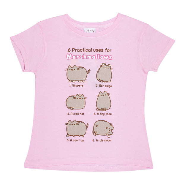 Pusheen Marshmallows Girls T-Shirt - Popgear