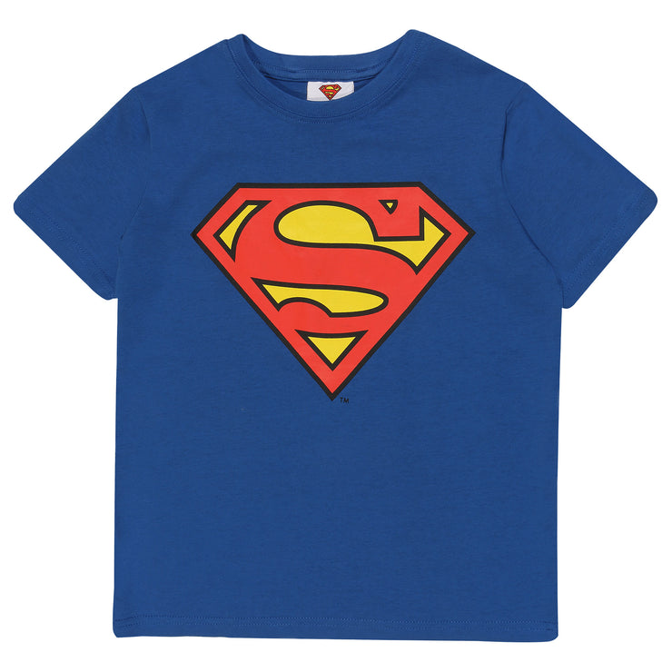 DC Comics Superman Classic Logo Boys T-Shirt | Official Merchandise Front Image by Popgear