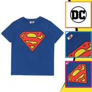 DC Comics Superman Classic Logo Boys T-Shirt | Official Merchandise Back Image by Popgear