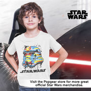 Star Wars Stormtrooper Bright Camo Helmet Boys T-Shirt | Official Merchandise Angle Image 2 by Popgear