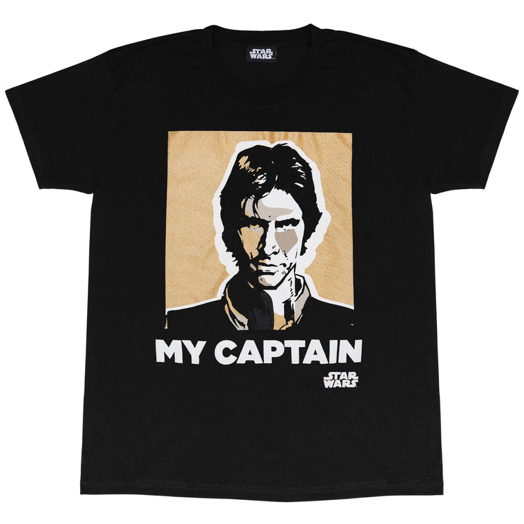 Star Wars Han Solo My Captain Men's T-Shirt | Official Merchandise Front Image by Popgear