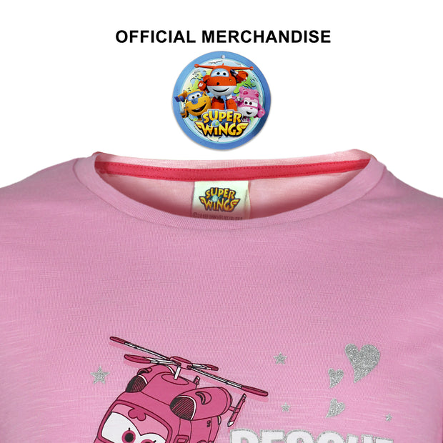 Super Wings Rescue Copter Girls T-Shirt - Popgear