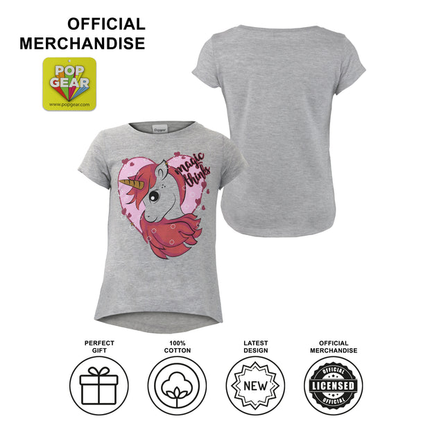 Unicorn Magic Thinks Girls T-Shirt - Popgear