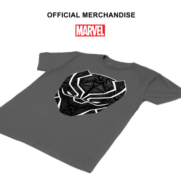Marvel Black Panther T'Challa Mask Men's T-Shirt | Official Merchandise Angle Image 1 by Popgear