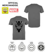 Marvel Black Panther T'Challa Mask Men's T-Shirt | Official Merchandise Angle Image 2 by Popgear