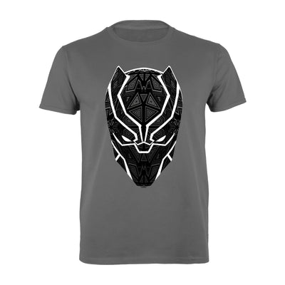 Marvel Black Panther T'Challa Mask Men's T-Shirt | Official Merchandise Front Image by Popgear
