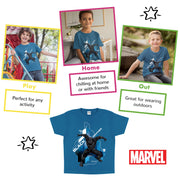 Marvel Black Panther Crouch Boys T-Shirt - Popgear