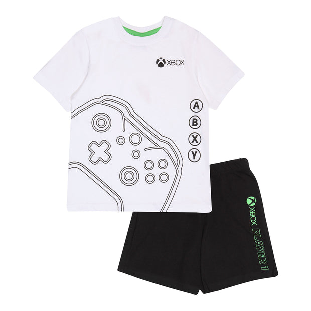 X-Box Controller Boys Short Pyjamas Set | Official Merchandise Front Image by Popgear