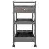 Winsome Jeston Entertainment Cart Oyster Gray Finsih