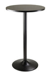Winsome Pub Table Round Black MDF Top with Black leg and base