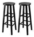 "Winsome Pacey 2-Pc 29"" Bar Stool Set Black"