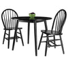 Winsome Moreno 3-Pc Set Drop Leaf Table with Chairs, Black Finish