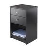 Winsome Ava Accent Table with 2 Drawers in Black Finish