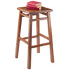 "Winsome Carter Bar Stool 29"", Teak Finish"