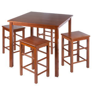 Winsome Stella 5-Pc Set Space Saver Teak Finish