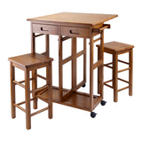 Winsome Suzanne 3-Pc Space Saver Set Teak