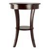 Winsome Cassie Round Accent Table with Glass