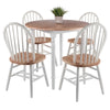 Winsome Sorella 5pc Set Round Drop Leaf Table with Windsor Chairs