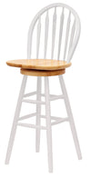 "Winsome Wagner 30"" Arrow-Back Windsor Swivel Seat Bar Stool Natural & White"